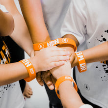 Load image into Gallery viewer, No Weapon Kids Wristband (Orange) 'K' logo