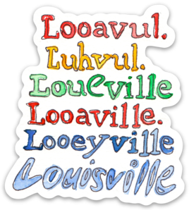 Louisville Spellings Sticker