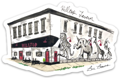 Hilltop Tavern Sticker