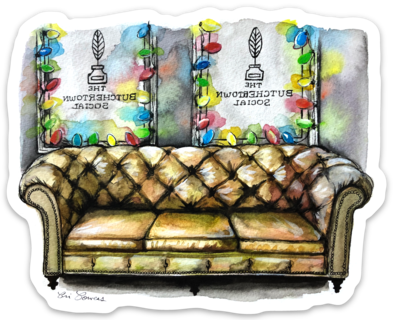 Butchertown Social Couch Sticker
