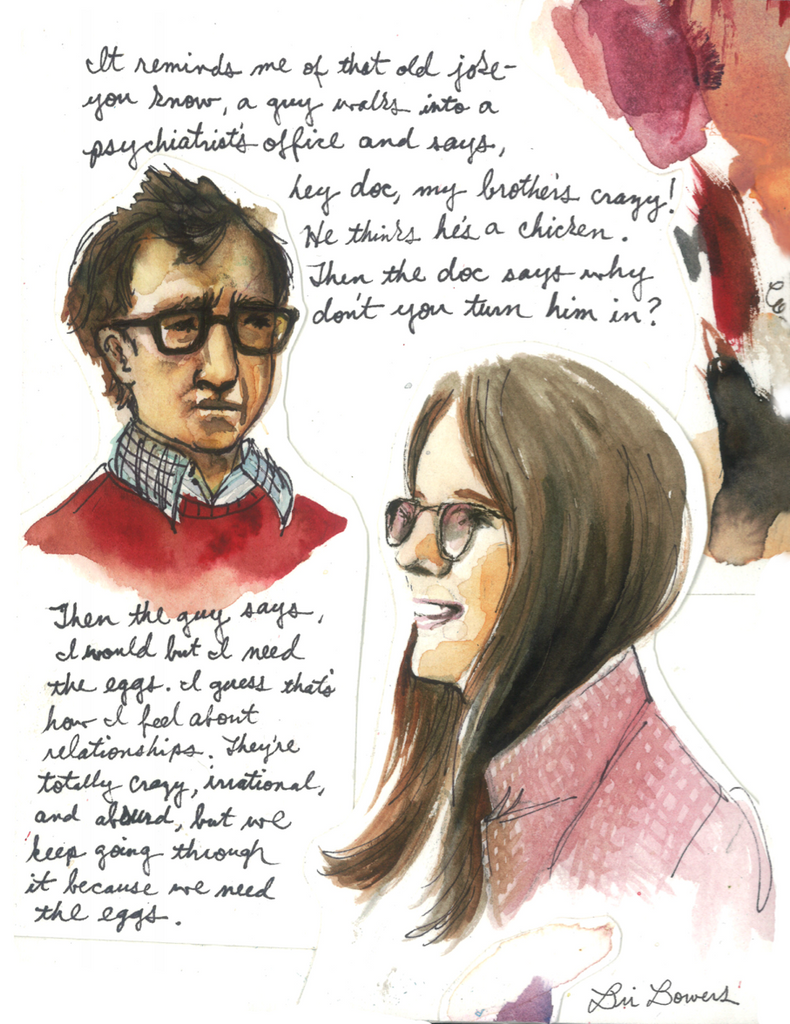 Annie Hall Watercolor Print