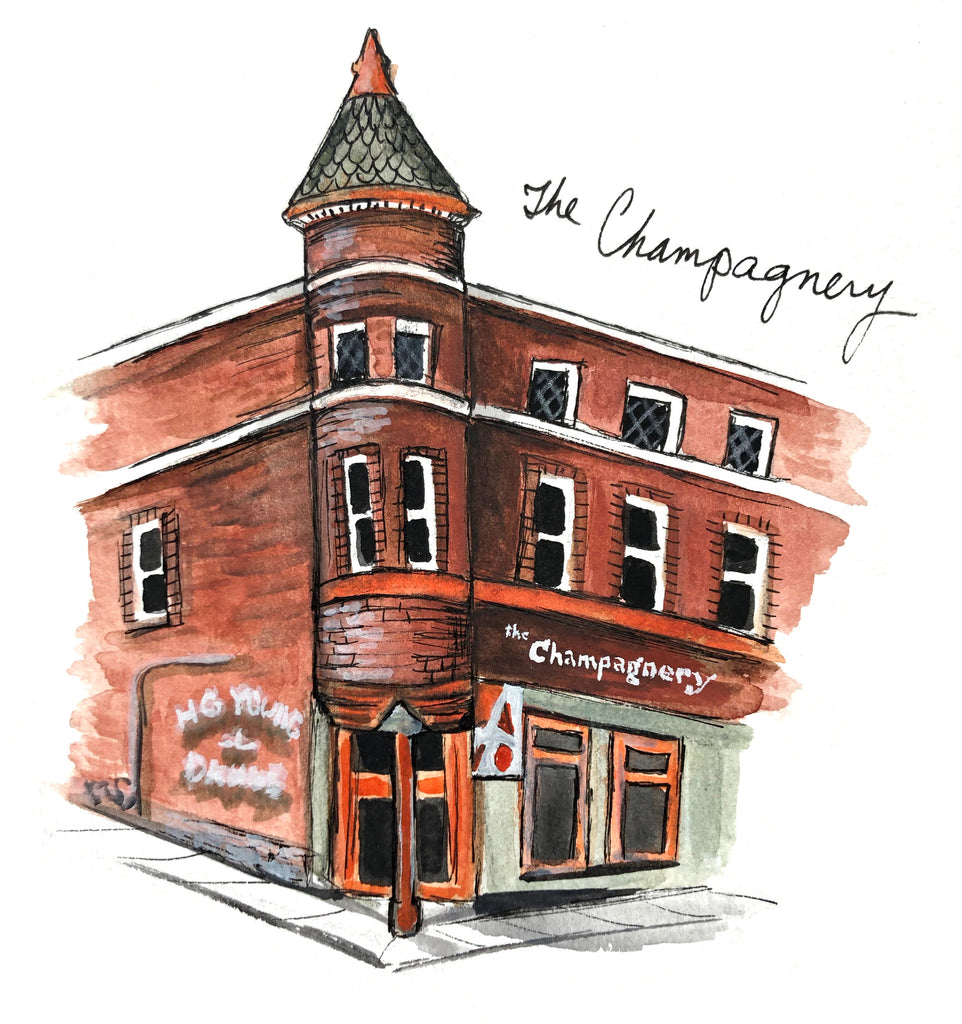The Champagnery Watercolor Print