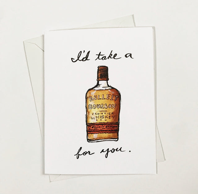 Bulleit Bourbon Watercolor Card