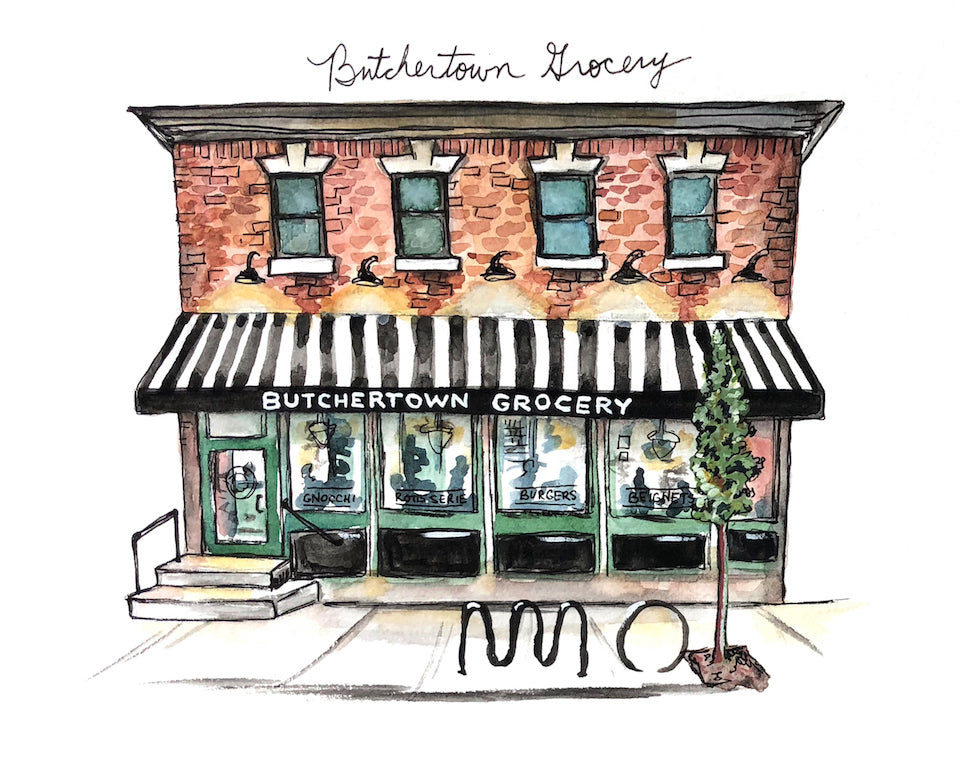 Butchertown Grocery Watercolor Print