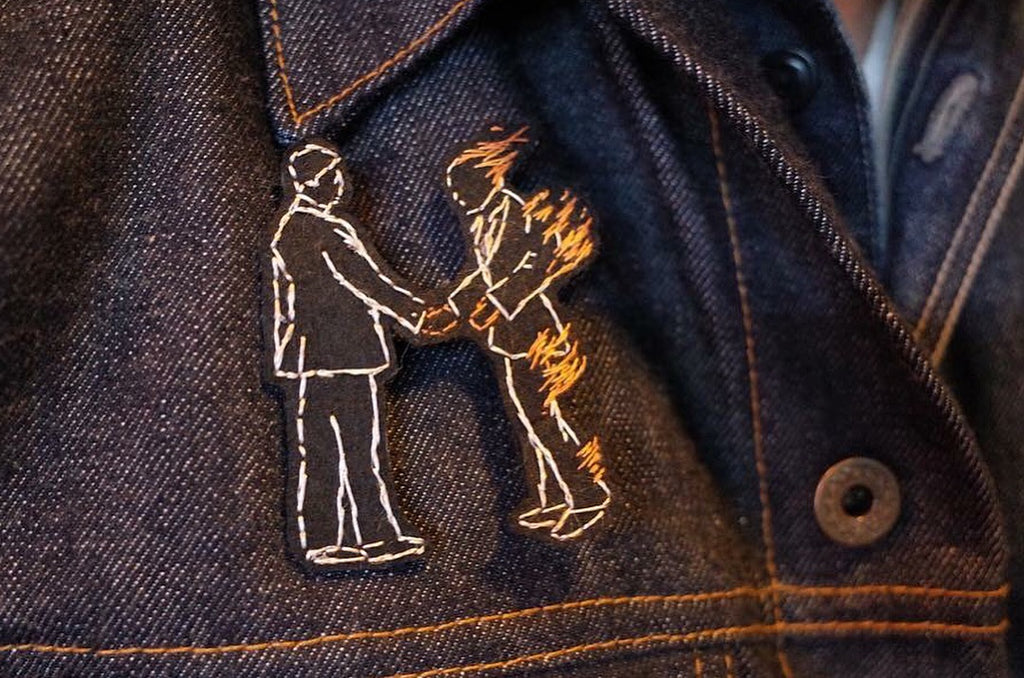 Man on Fire Embroidery Pin