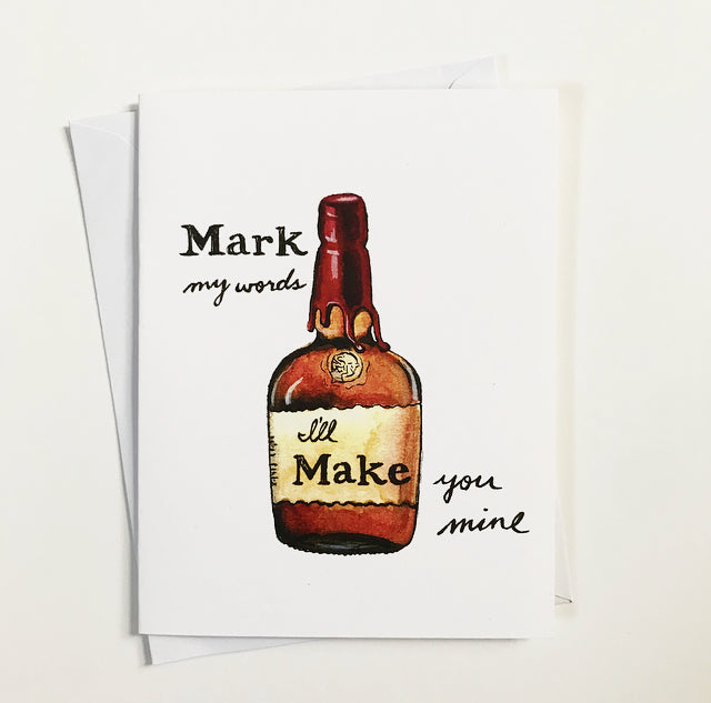 Maker's Mark Watercolor Card