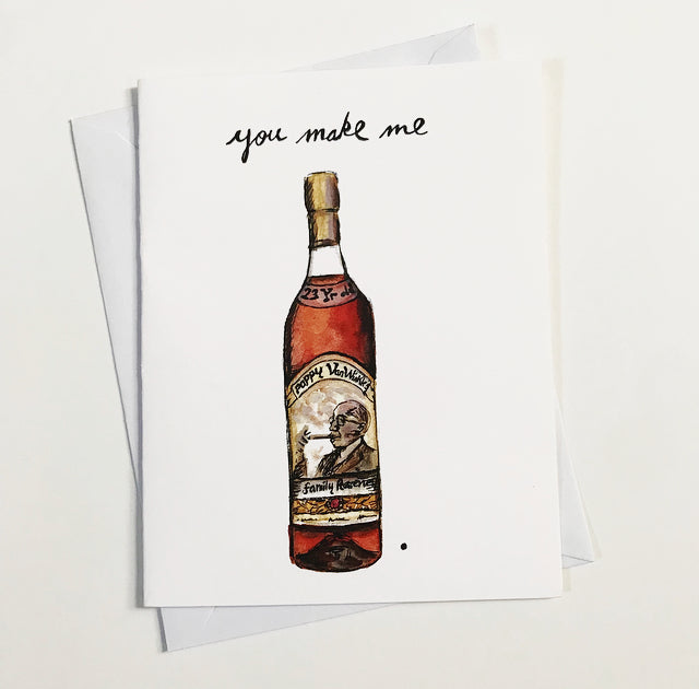 Pappy Van Winkle Watercolor Card