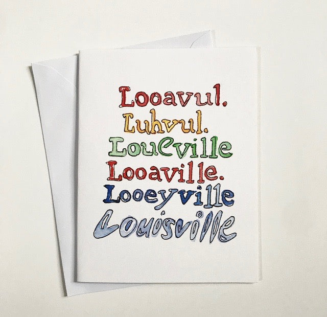 Louisville Spellings Watercolor Card