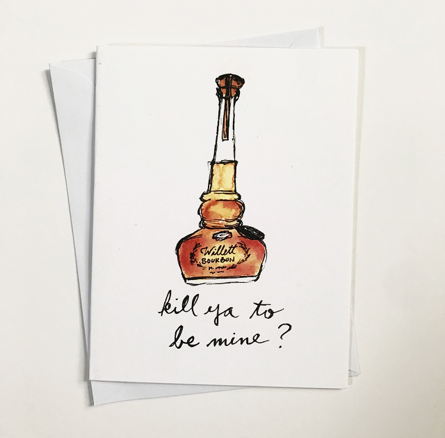 Willett Bourbon Watercolor Card