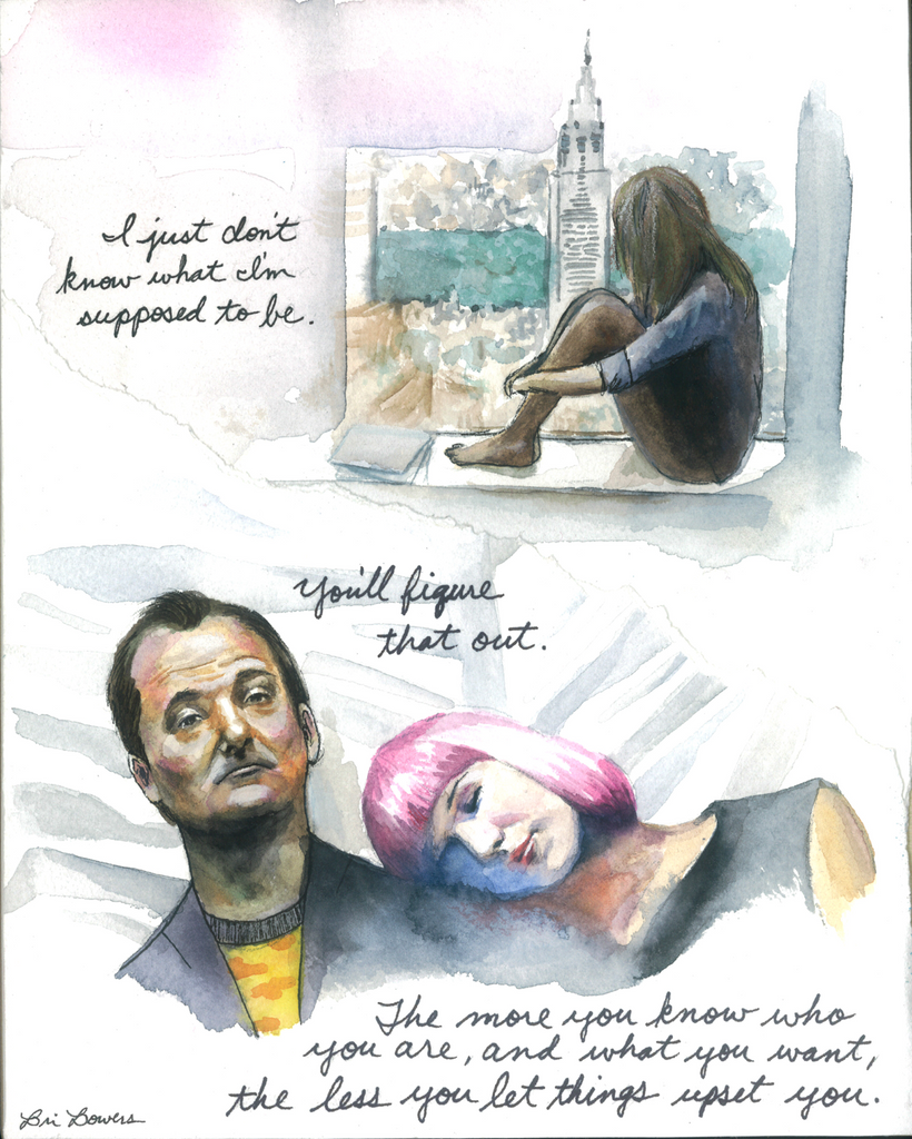 Lost in Translation Watercolor Print