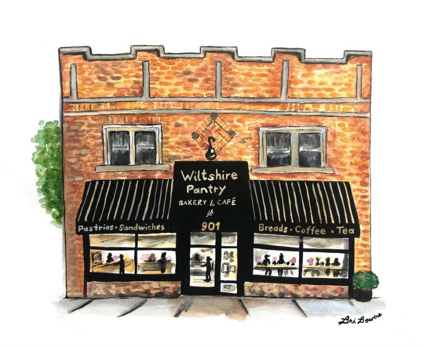 Wiltshire Pantry Watercolor Print