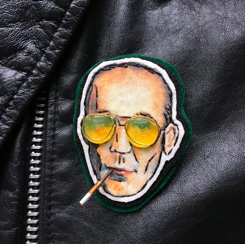 Hunter S. Thompson Embroidery Pin