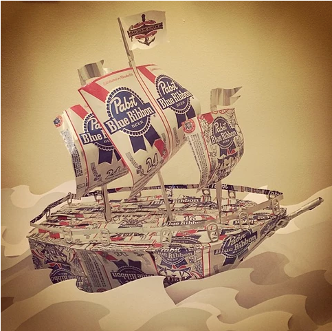 Pabst Blue Ribbon Ship