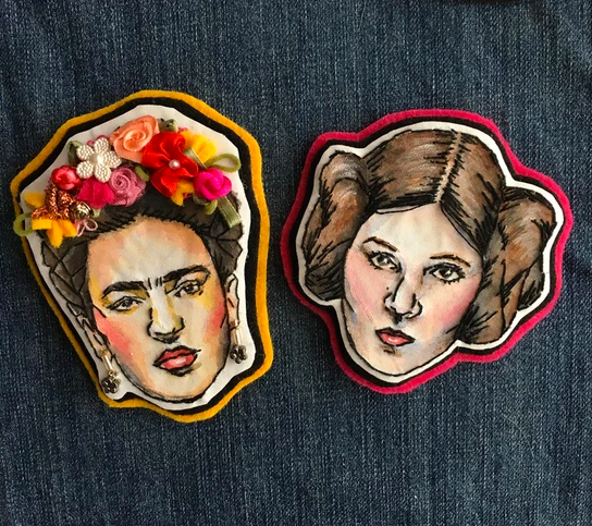 Frida & Carrie Embroidery Pins