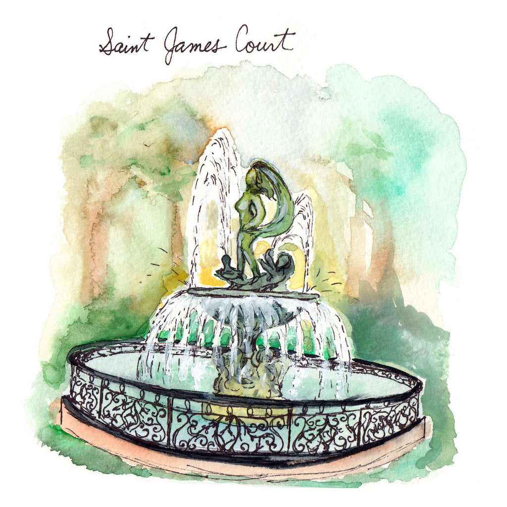 St James Court Watercolor Print