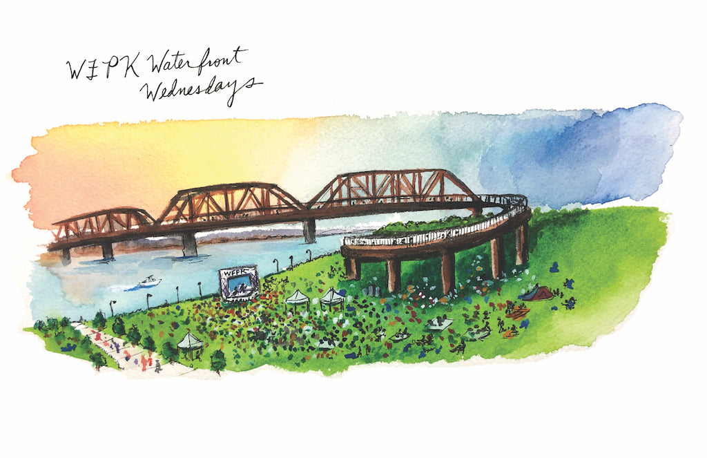 WFPK Waterfront Wednesdays Watercolor Print