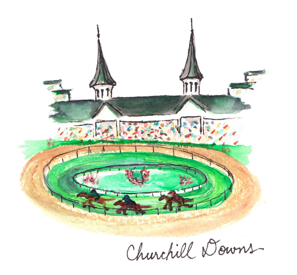 Churchill Downs Postcard