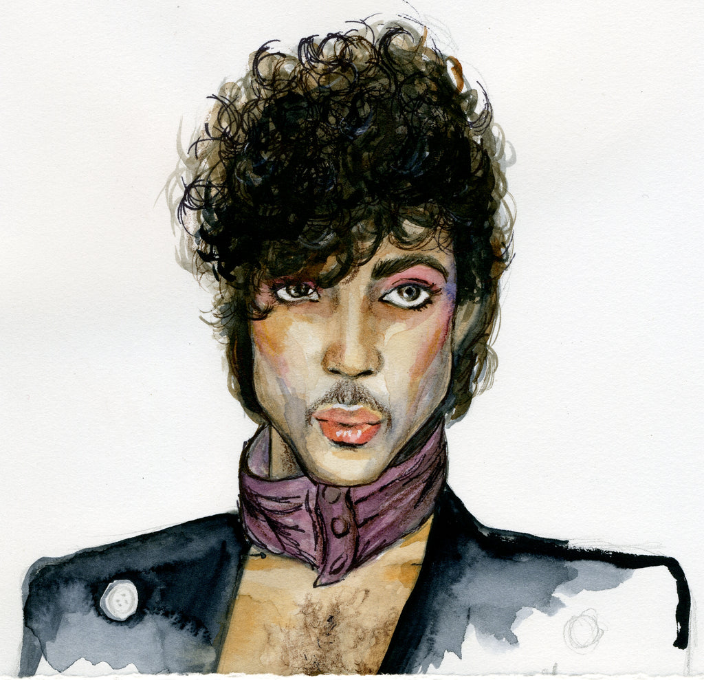 Prince Watercolor Print