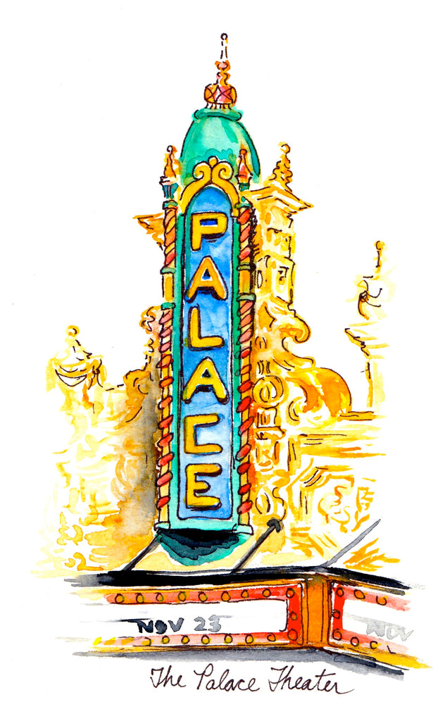 The Louisville Palace Watercolor Print