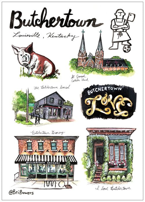 Butchertown Postcard