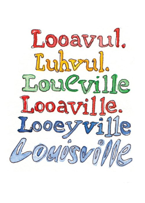 Louisville Spellings Postcard