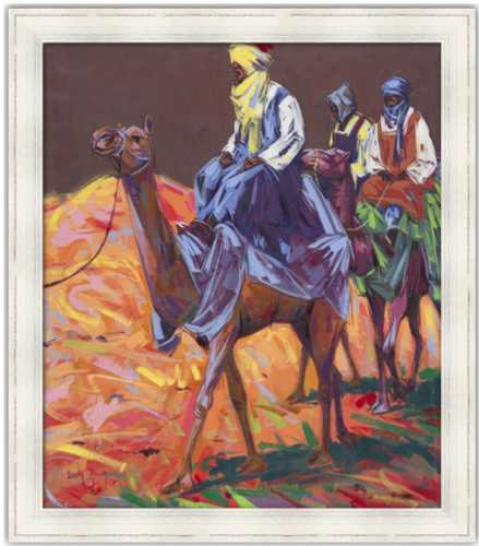 Authentic Nigerian Art - Nigerian Paintings - African Paintings - The Journey