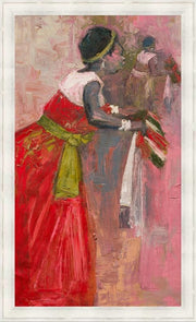 Authentic Nigerian Art - Nigerian Paintings - African Paintings - A Mothers Touch