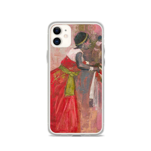 Authentic Nigerian Art - Nigerian Paintings - African Paintings - A Mothers Touch iPhone Case