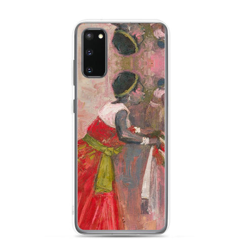 Authentic Nigerian Art - Nigerian Paintings - African Paintings - A Mothers Touch Samsung Case