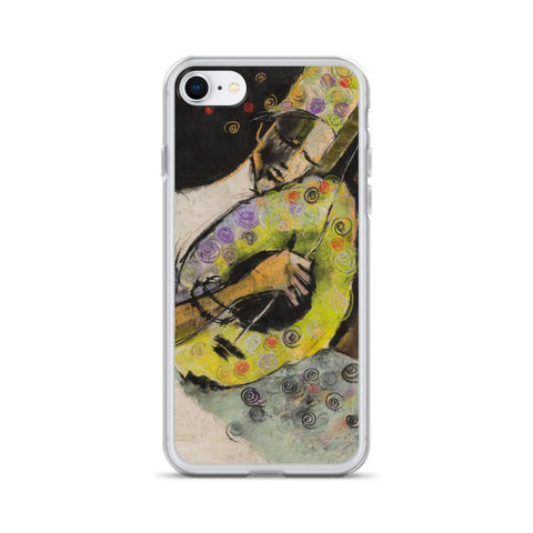 Authentic Nigerian Art - Nigerian Paintings - African Paintings - A Sound So Sweet iPhone Case