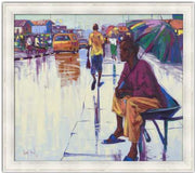 Authentic Nigerian Art - Nigerian Paintings - African Paintings - The Lonely Man
