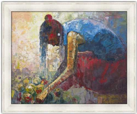 Authentic Nigerian Art - Nigerian Paintings - African Paintings - Backbones Hold Stories