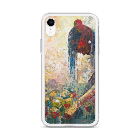 Authentic Nigerian Art - Nigerian Paintings - African Paintings - Backbones Hold Stories iPhone Case