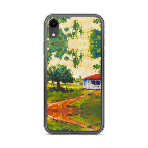 Authentic Nigerian Art - Nigerian Paintings - African Paintings - Blissful Innocence iPhone Case