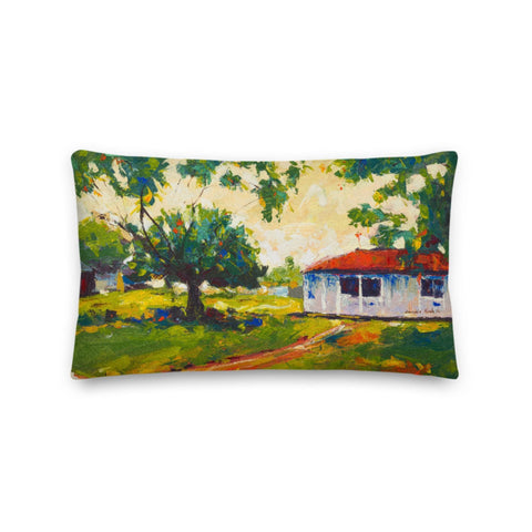 Authentic Nigerian Art - Nigerian Paintings - African Paintings - Blissful Innocence Touch Throw Pillow