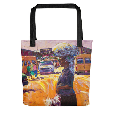Authentic Nigerian Art - Nigerian Paintings - African Paintings - Chicken For Dinner Tote Bag