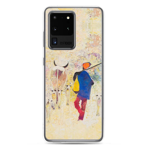 Authentic Nigerian Art - Nigerian Paintings - African Paintings - Contentment Samsung Case