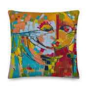 Authentic Nigerian Art - Nigerian Paintings - African Paintings - Mirror Of Emotion Premium Pillow