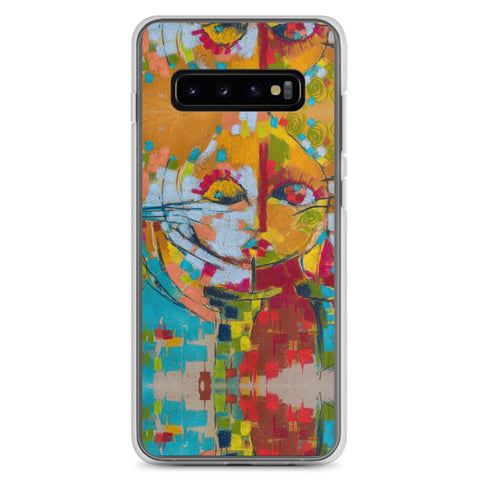 Authentic Nigerian Art - Nigerian Paintings - African Paintings - Mirror Of Emotion Samsung Case