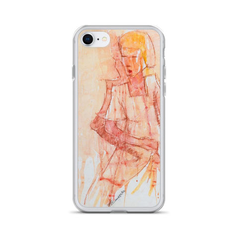 Authentic Nigerian Art - Nigerian Paintings - African Paintings - Mistress Of Beauty iPhone Case
