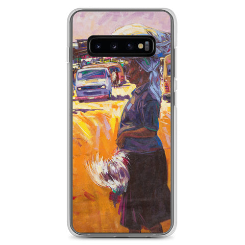 Authentic Nigerian Art - Nigerian Paintings - African Paintings - Chicken For Dinner Samsung Case