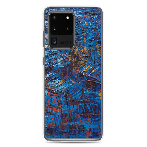 Authentic Nigerian Art - Nigerian Paintings - African Paintings - Rooftops In The Moonlight Samsung Case