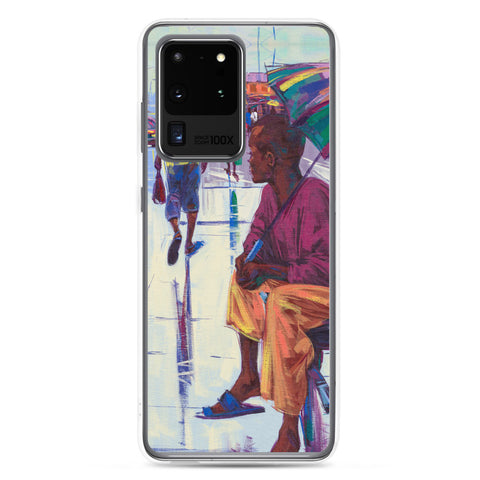 Authentic Nigerian Art - Nigerian Paintings - African Paintings - The Lonely Man Samsung Case