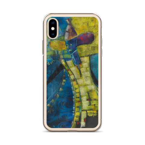 Authentic Nigerian Art - Nigerian Paintings - African Paintings - Weary Travler iPhone Case