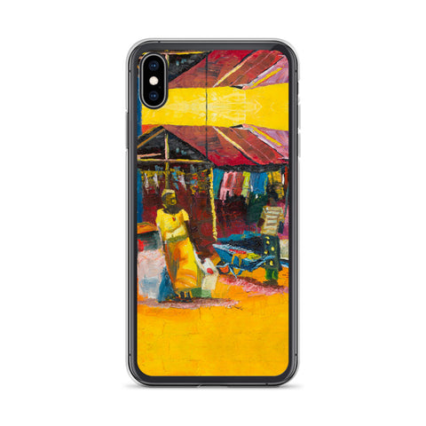 Authentic Nigerian Art - Nigerian Paintings - African Paintings - Warmth iPhone Case