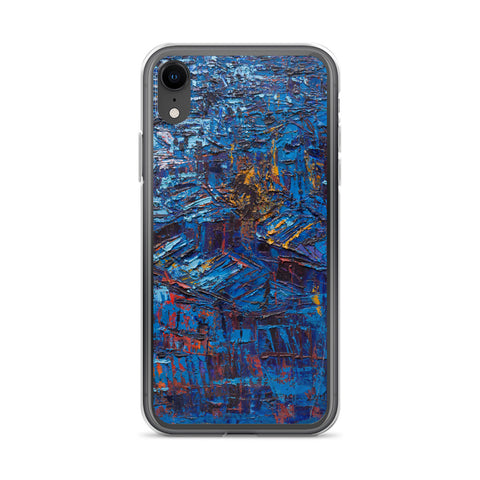 Authentic Nigerian Art - Nigerian Paintings - African Paintings - Rooftops In The Moonlight iPhone Case
