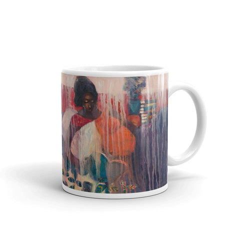 Authentic Nigerian Art - Nigerian Paintings - African Paintings - Mother Of Freedom Mugs