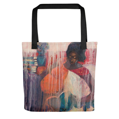 Authentic Nigerian Art - Nigerian Paintings - African Paintings - Mother Of Freedom Tote Bag