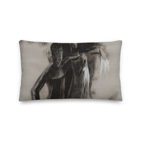 Authentic Nigerian Art - Nigerian Paintings - African Paintings - One Dance Premium Pillow