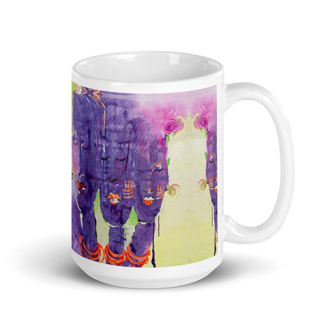 Authentic Nigerian Art - Nigerian Paintings - African Paintings - Peace Within Mugs